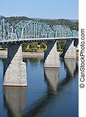 noz, rua, ponte, em, chattanooga