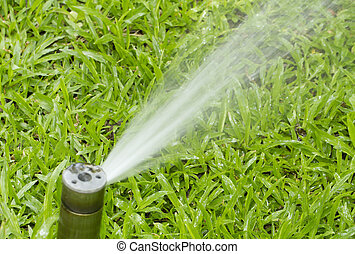 Nozzle automatic watering system