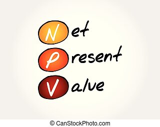 NPV - Net Present Value acronym, business concept background