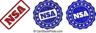 NSA Grunge Stamp Seals