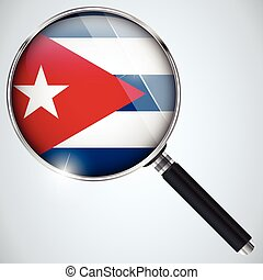 NSA USA Government Spy Program Country Cuba - Vector - NSA...