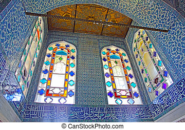 nterior of the Topkapi palace in Istanbul, Turkey