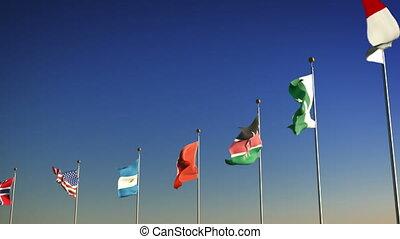 ntions, drapeaux