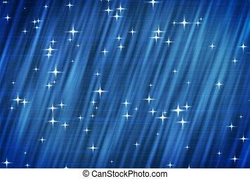 ntsc., gwiazdy, na, błękitny, tło.