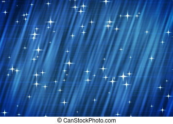 NTSC. Stars on blue background.