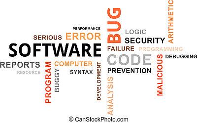 nuage, bogue, logiciel, -, mot