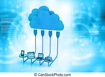 nuage, calculer, réseau