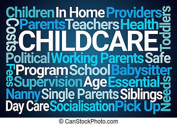 nuage, childcare, mot