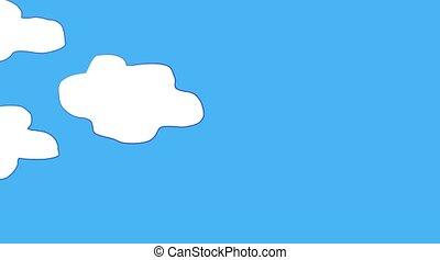 nuage, ciel, en mouvement