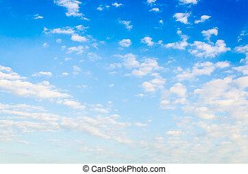 nuage ciel, fond
