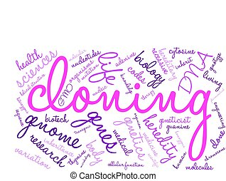 nuage, clonage, mot