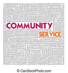 nuage, communauté, finance, business, service, concept, mot
