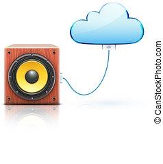 nuage, concept, stockage