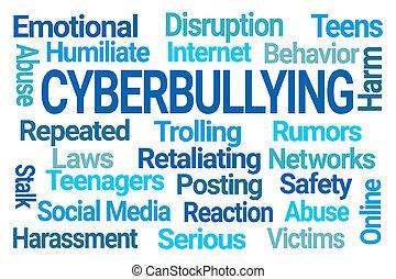 nuage, cyberbullying, mot