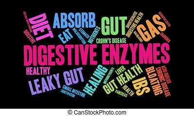 nuage, enzymes, mot, digestif