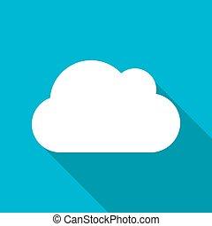 nuage, eps10, icon., vecteur
