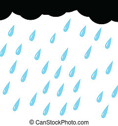 nuage, fond blanc, pluie