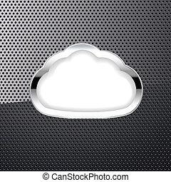 nuage, fond, métallique