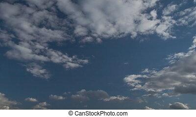 nuage gonflé, défaillance, rouler, nuages, film, temps