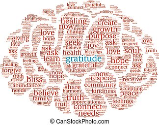 nuage, gratitude, mot