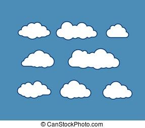 nuage, icônes