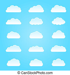 nuage, icon., illustration, vecteur