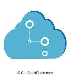 nuage, illustration, calculer