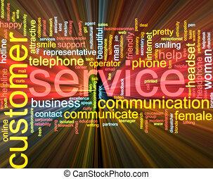 nuage, incandescent, service, client, mot
