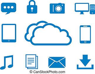 nuage, internet, calculer