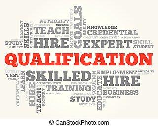 nuage, mot, education, qualification