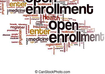 nuage, mot, ouvert, enrollment