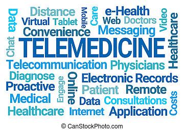 nuage, mot, telemedicine