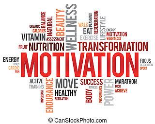 nuage, motivation, mot