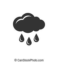 nuage, pluie, icône