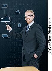 nuage, présentation, service