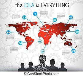 nuage, social, média, infographic, concept