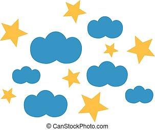 nuages, étoiles