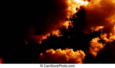 nuages, aimer, brûlé, brûler, ciel, enfer, armageddon