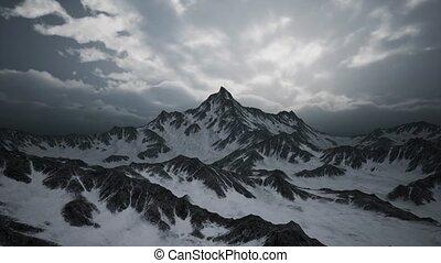nuages, altitude, élevé, crêtes