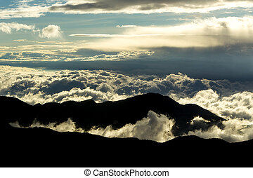 nuages, altitude, gamme, élevé, équatorien, andes