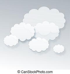 nuages blancs, gris, fond