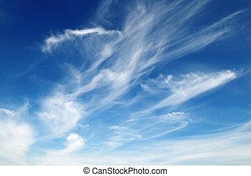 nuages blancs, pelucheux