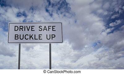 nuages, boucle, sûr, haut, conduire, ti, signe