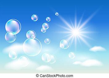 nuages, bulles