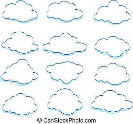 nuages - Dessin De Nuage