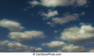 nuages, dessin animé