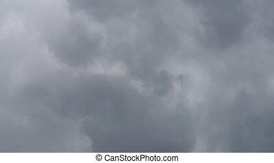 nuages, droit, pluie, écran, gauche, mouvement, sombre, ...
