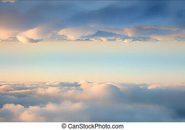 nuages, entre