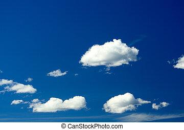 nuages, et, ciel
