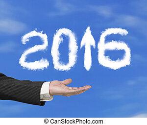 nuages, flèche, ciel, haut, main, forme, tenue, blanc, 2016